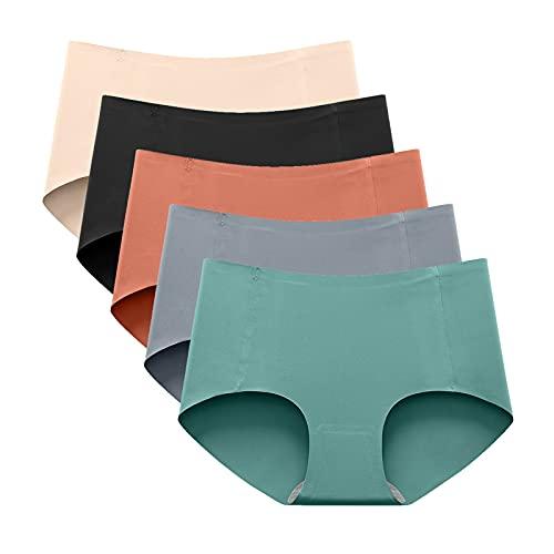 lecduo - Bragas sexy para mujer, talla media, color liso, A2., L