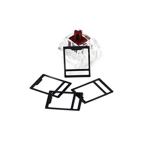 120 Stück/Set MX Switch Folien für mechanische Tastatur, Schalter Film Interaxial-Papier, Schalter Reparatur HTV Interaxiale Pad Struktur, kompatibel mit Cherry MX Kailh Gateron Switch – Schwarz