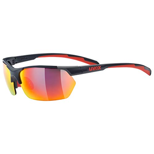 Uvex Sportstyle 114 Gafas Deportivas Ciclismo, Unisex Adulto, Grey Red, One Size