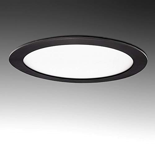 Greenice | Placa de LEDs Circular Marco Negro 225Mm 18W 1380Lm 30.000H | Blanco Frío
