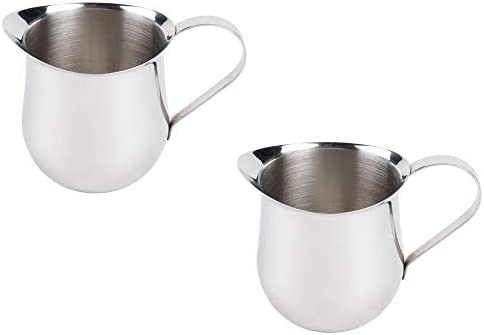 2 Pack 8 Ounce Stainless Steel Bell Creamer 250 ml Bell Shaped Serving Cream Pitcher product image