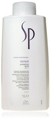 Wella Professionals - Shampoing Réparateur pour Cheveux Abimés - System Professional Repair Shampoo - 1 Litre