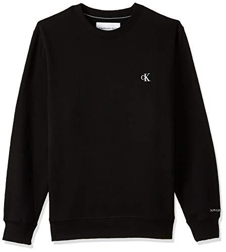 Calvin Klein Essential Reg CN Maglione, CK Black, S Uomo