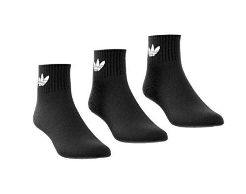 Adidas Trefoil Ankle Mid Socks Socken 3er Pack (L, black)