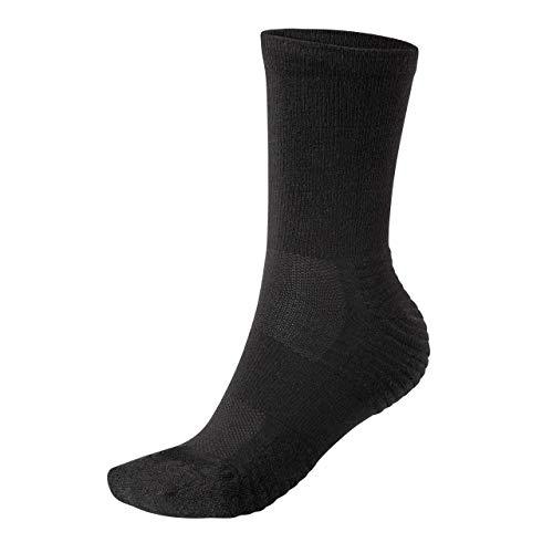 Wool Rockers Merino-Wander-Socken, 72{3ccdc68eac9c2feb3d1c869286c552fa50c4b1f47ce360e6463c828c2b180549} Merinowolle, für Damen & Herren, Outdoor und im Alltag, optimal gepolstert und atmungsaktiv (schwarz, 39 - 42)