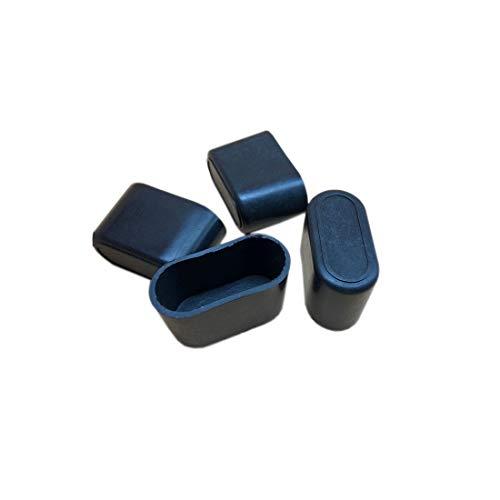 "Flyshop 8Pcs Chair Leg Caps Feet Pads PP Hard Plastic Floor Protectors Oval Furniture Table Covers 5/8"" X 1-11/32"" (16 x 34mm) -  PVC-XJTYT-16*34/8pcs"