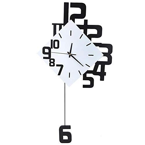 Fdit1 Orologio da Parete Appeso a Muro in Ferro battuto Stile Nordico per Soggiorno
