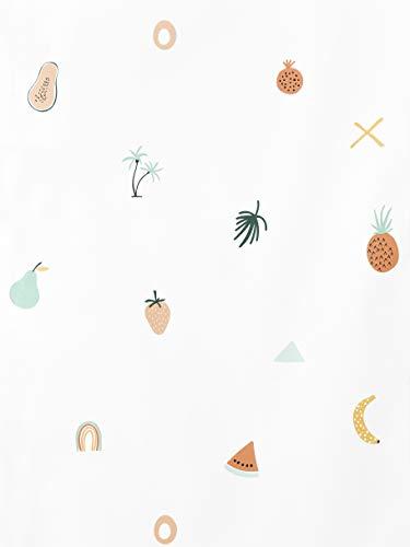 Kenay Home Fruity Wallpaper Papel Pintado Infantil, Frutas Colores, 0,53x10m (AnchoxLargo)