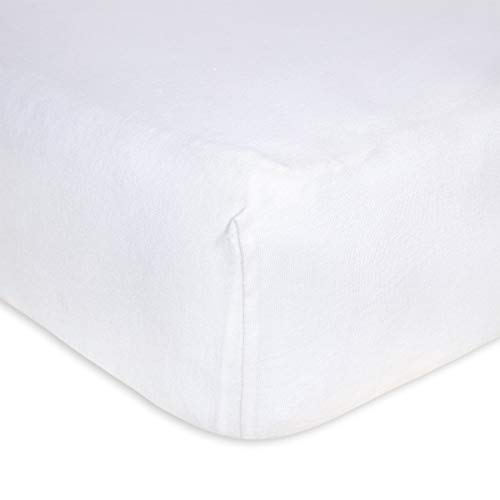 Burt's Bees Baby - Fitted Crib Sheet, Solid Color, 100%...