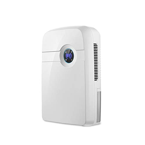 Dehumidifier, Small Bedroom Dehumidifier 2.5L Large Capacity Water Tank, Lcd Display Screen Can Be Turned Off At Night, Suitable for Home Use, White