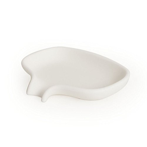 bosign Soft Seifenschale mit Ablauf, Weiß, Silikon, 1