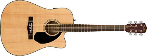 Fender CD-60SCE - Chitarra acustica Dreadnought, colore naturale