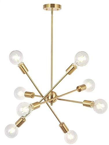 YQGOO 8-Lights Moderne Sputnik-Kronleuchter-Beleuchtung Mit Verstellbaren Armen Mitte des Jahrhunderts Pendant Light Vintage Industrial Hung Chandelier Einrichtung Moderne Lampe,8-Lights Gold