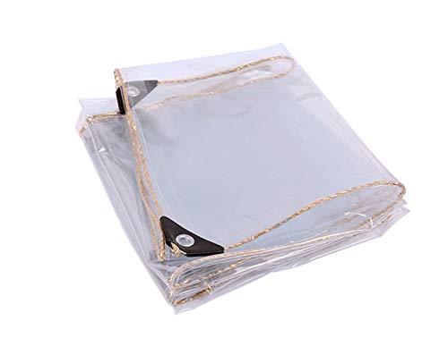 LWXTY Lona impermeable a prueba de polvo impermeable PVC transparente tienda resistente lona 0,35 mm, con ojales de metal, para jardinería, camping, viajes, cubiertas de tierra, 0,8 m x 1,5 m.