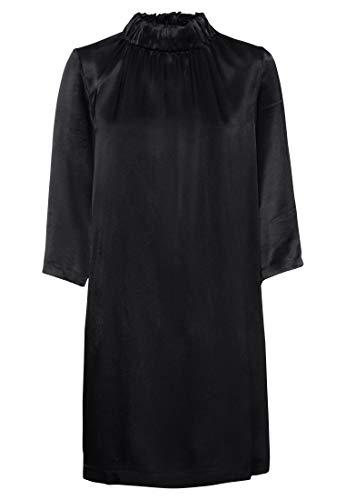 HALLHUBER Twillkleid mit Stehkragen gerade geschnitten schwarz, 34