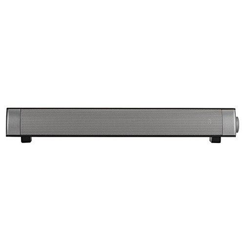 Barra Audio Bluetooth, Altoparlanti Home Theater Hi-Fi Heavy Bass con cancellazione del Rumore Suono Il Lettore Musicale Supporta AUX Scheda di Memoria per PC, TV, Tablet e telefoni cellulari