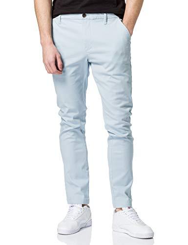 Marca Amazon - MERAKI Pantalones Chinos Estrechos Hombre, Azul (Cashmere Blue), 42W / 32L, Label: 42W / 32L
