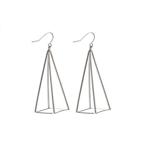 Europeo Americano 3D Piramide Triangolo Piercing Orecchio Goccia Orecchino Per Le Donne Gioielli Di Moda Regalo Per Le Donne Gugutogo