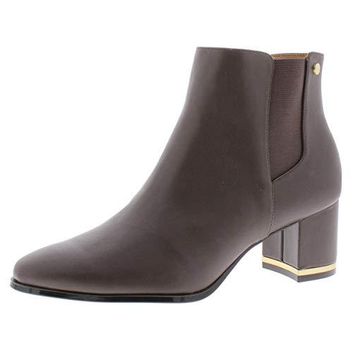 Calvin Klein Women's FIORANNA Ankle Boot, Coffee Bean, 9.5