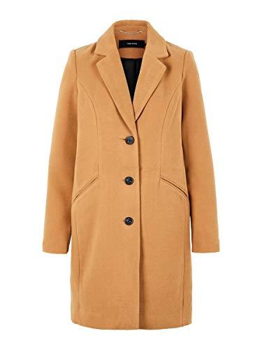 VERO MODA Damen VMCALA Cindy AW19 3/4 Jacket BOOS Mantel, Braun (Tobacco Brown Tobacco Brown), Medium (Herstellergröße: M)
