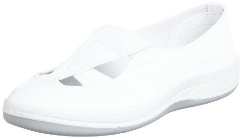 [ミドリ安全] 静電作業靴 クリーンルーム向け 通気タイプ スリッポン エレパス SU402 メンズ ホワイト 24.0(24cm)