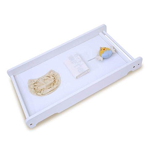 Bébé Table à Langer/Bois Massif Portable Baby Care Bureau Lit dans Le lit Table à Langer Bébé Toucher Table Table de Finition Bois Couleur 10 kg de Charge (Couleur : Blanc)