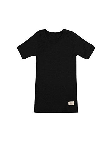 Dilling Kinder T-Shirt aus 100% Bio-Merinowolle Schwarz 146-152