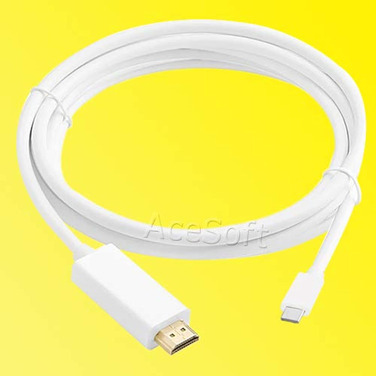 White - Type-C to HDMI Cable 4K2K HD Charger Adapter Converter for Samsung Galaxy Note 8 Cellphone