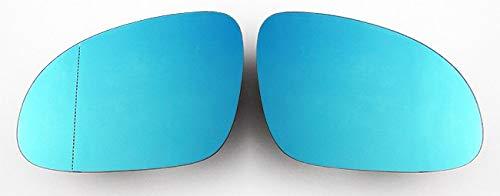Spiegelgläser Links+Rechts Asphärisch Blau Set