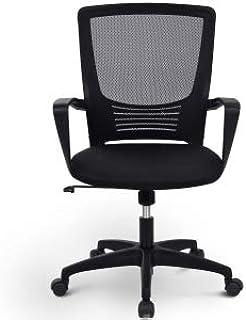Silla de escritorio para oficina de blinfixe, silla de escritorio ejecutiva, de malla giratoria de respaldo alto, ajustable, transpirable, resistente, para el hogar, apoyabrazos ergonómico
