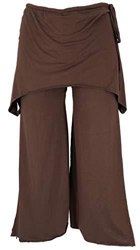 Guru-Shop, Pantaloni di Goa Psytrance, Pantaloni Estivi, Pantaloni da Yoga, Pantaloni da Festa, Pantaloni a Zampa di Elefante, caffè, Dimensione Indumenti:S/M (38), Pantaloni Lunghi