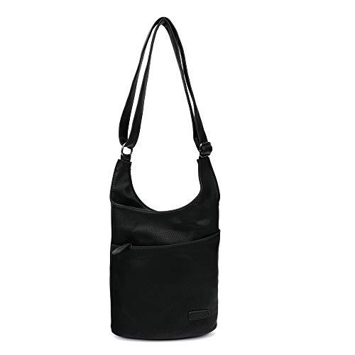 2-TAGE-LIEFERZEIT: Damen Umhängetasche - Schultertasche Schwarz - Damenhandtasche - Handtasche - Crossbody - Messenger Bag - Shopper Tasche - premium Tote