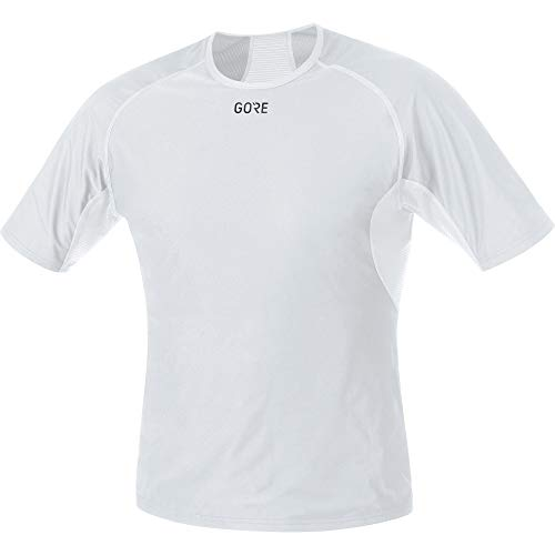 GORE WEAR M Homme Sous-maillot à manches courtes GORE WINDSTOPPER, XXL, Gris clair/Blanc