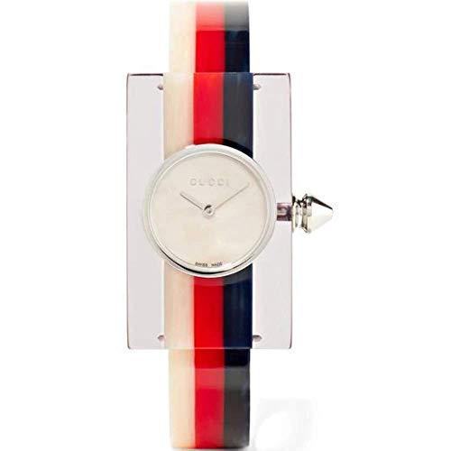 Gucci Plexiglas Damen-Armbanduhr Armband Plastik + Gehäuse Quarz YA143523