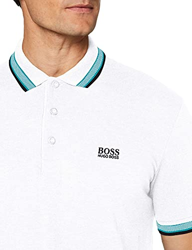 BOSS Paddy Camiseta Polo, Blanco (Natural 106), XXL para Hombre