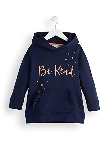 Amazon-Marke: RED WAGON Mädchen Slogan Kapuzenpullover, Blau (Multicolour), 128, Label:8 Years
