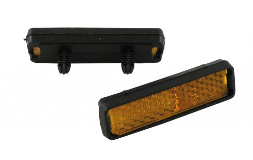 Pedal Reflektoren zum Stecken, schwarz/orange, 4-teilig (1 Set)