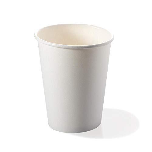 Vasos biodegradables y compostables, 50 unidades desechables de papel y PLA ecológicos...