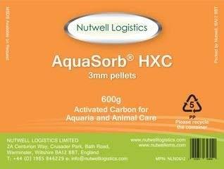 AquaSorb HXC Granulés de charbon actif 3 mm 600 g