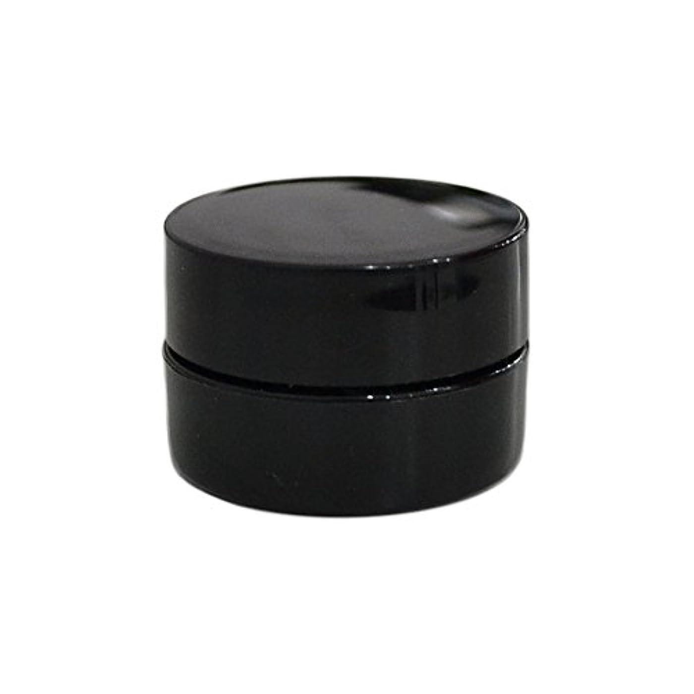 変更可能遺伝的レプリカ純国産ネイルジェルコンテナ 3g用 GA3g 漏れ防止パッキン&ブラシプレート付容器 ジェルを無駄なく使える底面傾斜あり 遮光 黒 ブラック