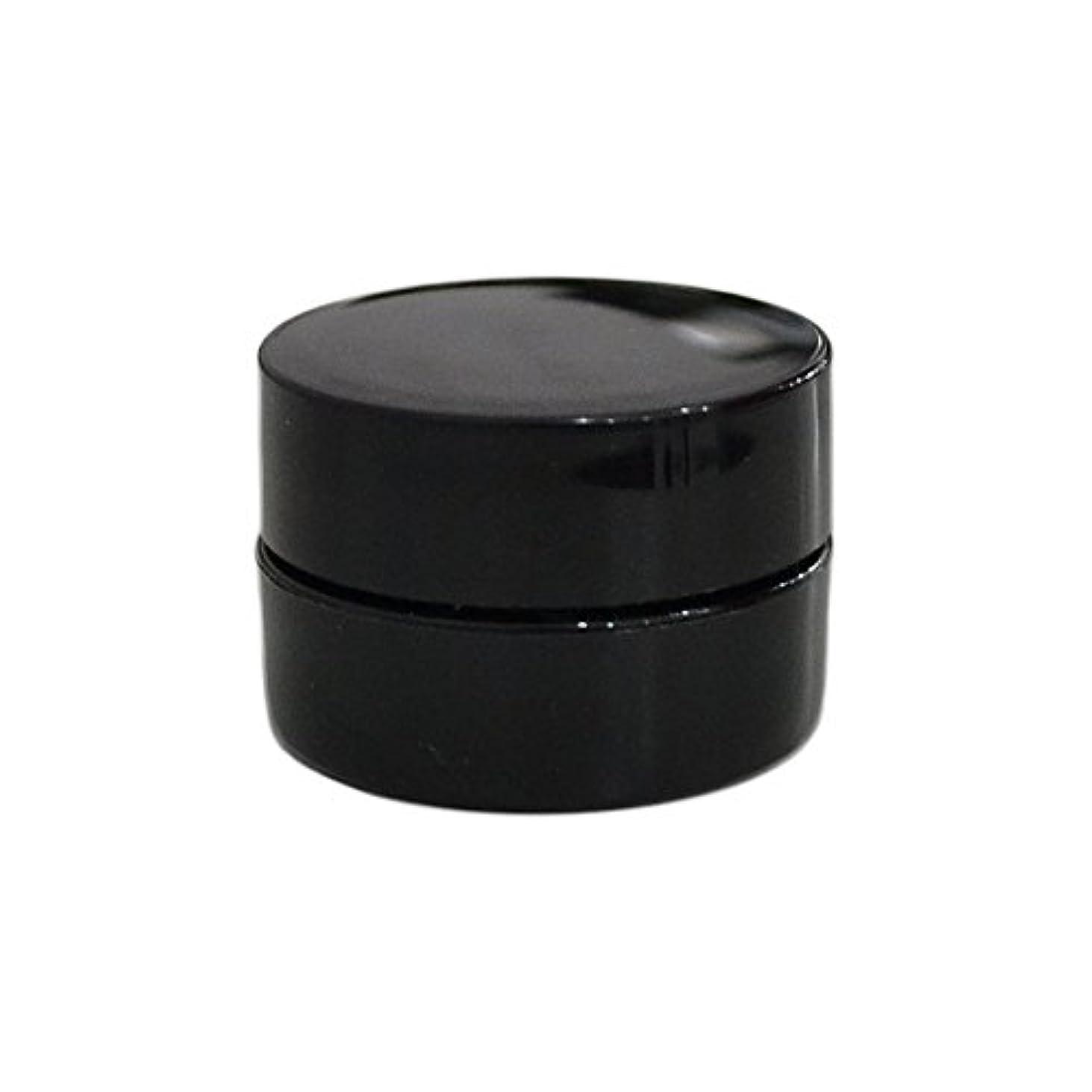 絶縁するプレビスサイトスクリーチ純国産ネイルジェルコンテナ 3g用 GA3g 漏れ防止パッキン&ブラシプレート付容器 ジェルを無駄なく使える底面傾斜あり 遮光 黒 ブラック