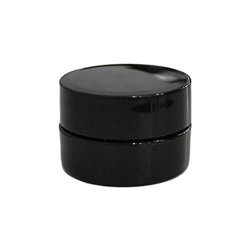実質的にドリンクカイウス10個セット/純国産ネイルジェルコンテナ 3g用 GA3g 漏れ防止パッキン&ブラシプレート付容器 ジェルを無駄なく使える底面傾斜あり 遮光 黒 ブラック
