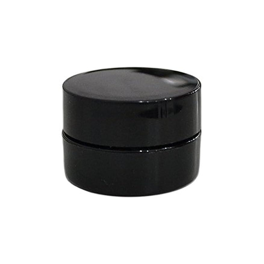 とてもコンパニオン解く純国産ネイルジェルコンテナ 3g用 GA3g 漏れ防止パッキン&ブラシプレート付容器 ジェルを無駄なく使える底面傾斜あり 遮光 黒 ブラック