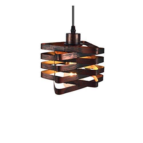 CHNOI Metallo del ferro della gabbia Lampadario Nordic Retro Industriale Cube Accessori Loft soffitto Modern Home Bar Cafe Lamp