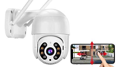 Cámara IP inalámbrica HD 1080P 360º, audio bidireccional, visión nocturna, resistente al agua, alerta de detección de movimiento.