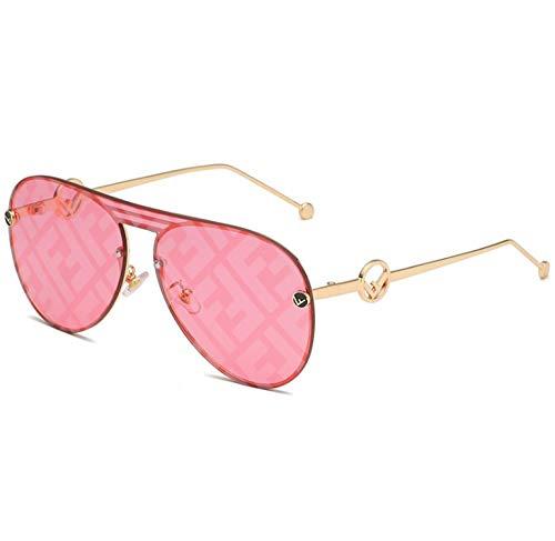 WANM Gafas de sol Gafas de sol de la letra F Gafas de sol de una pieza Toad Mirror-F