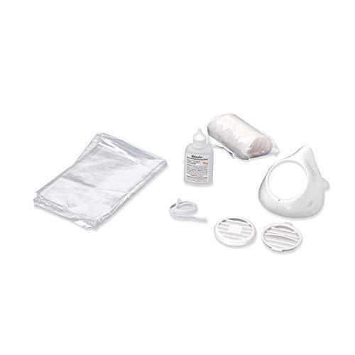 aidB BOX M Mund-Nasen-Maske, weiß, im PE Beutel mit Desinfektionsmittel und Pads