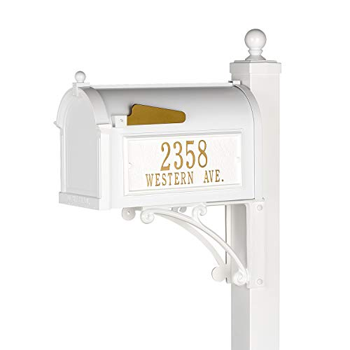 Whitehall Products Deluxe Mailbox Package-White