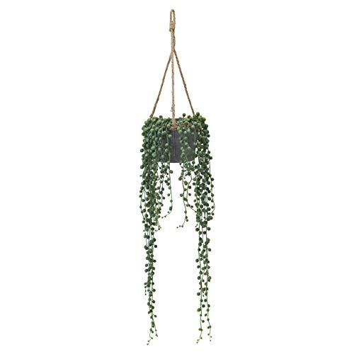 ドウシシャ 人工観葉植物 グリーン 約88.0cm グリーンネックレスハンギング HAC-061