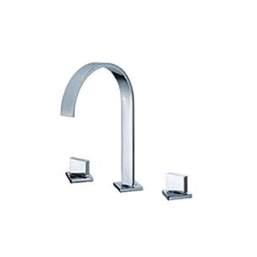 LIPENLI Grifo de accesorios de baño de acero inoxidable Lavabo de montaje en pared grifo de uso diario, duradero